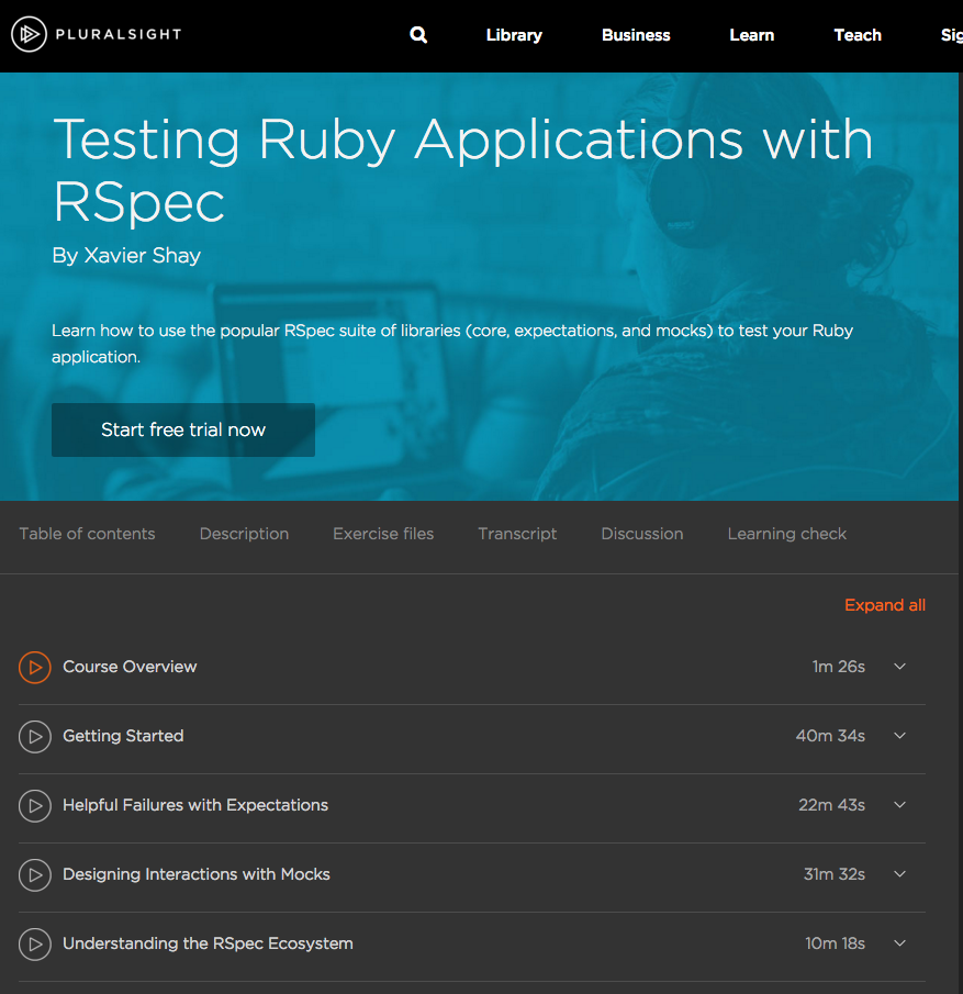 Testing Ruby Application with RSpec Screencast